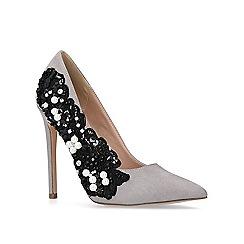 KG Kurt Geiger - Grey 'Bounty' high heel court shoes