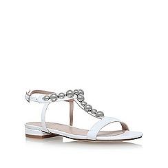 Carvela - White 'Bump' flat sandals