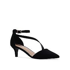Miss KG - Black 'Carter' mid heel court shoes