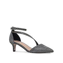 Miss KG - Metallic 'Carter' mid heel court shoes