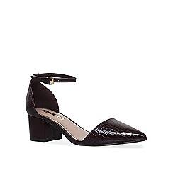 Miss KG - Wine 'Carla' mid heel court shoes
