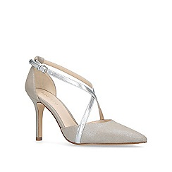 Nine West - Silver 'Moira' mid heel court shoes