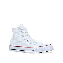 Converse - White 'CT summer fabric hi' flat lace up sneakers
