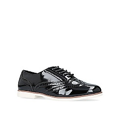 Carvela - Black 'Miller' flat lace up brogues