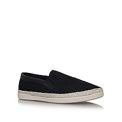 KG Kurt Geiger - Black 'Ned' flat slip on sneakers