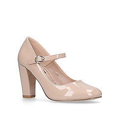 Miss KG - Pale 'Cassidy' pink mid heel court shoes