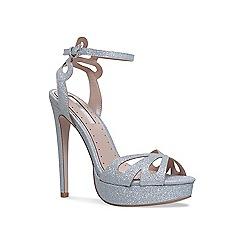 Miss KG - Silver 'Fabienne' high heel sandals