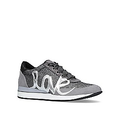 KG Kurt Geiger - Pewter 'Ottilie' low top trainers