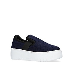 KG Kurt Geiger - Blue 'Gigi' flat slip on sneakers.