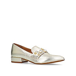 Carvela - Gold 'lily' low heel loafers