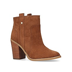 Nine West - Tan 'Haynes' high heel ankle boots