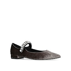 KG Kurt Geiger - Grey 'Kingly' flat ballerina shoes
