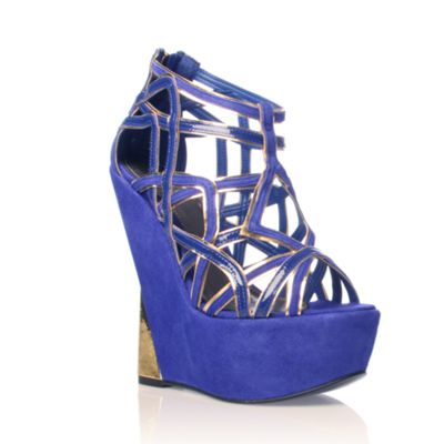 Blue Garbo High Heel shoes