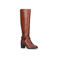 Carvela Comfort - Tan 'Verona' mid heel knee boots