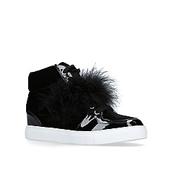 Miss KG - Black 'Lush' high top trainers