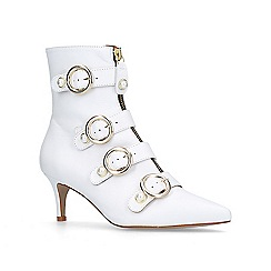 Carvela - White 'Sparky' mid heel ankle boots