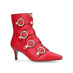 Carvela - Red 'Sparky' mid heel ankle boots