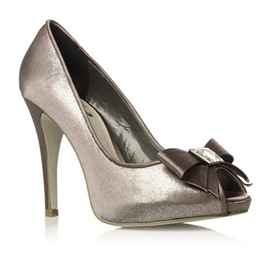 Metallic Haisley high heel shoes