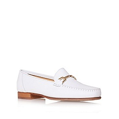Carvela - White 'Mariner' Flat Loafer Shoes