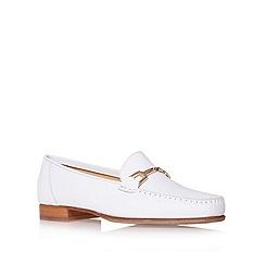 Carvela - White 'Mariner' Flat Loafer Shoes