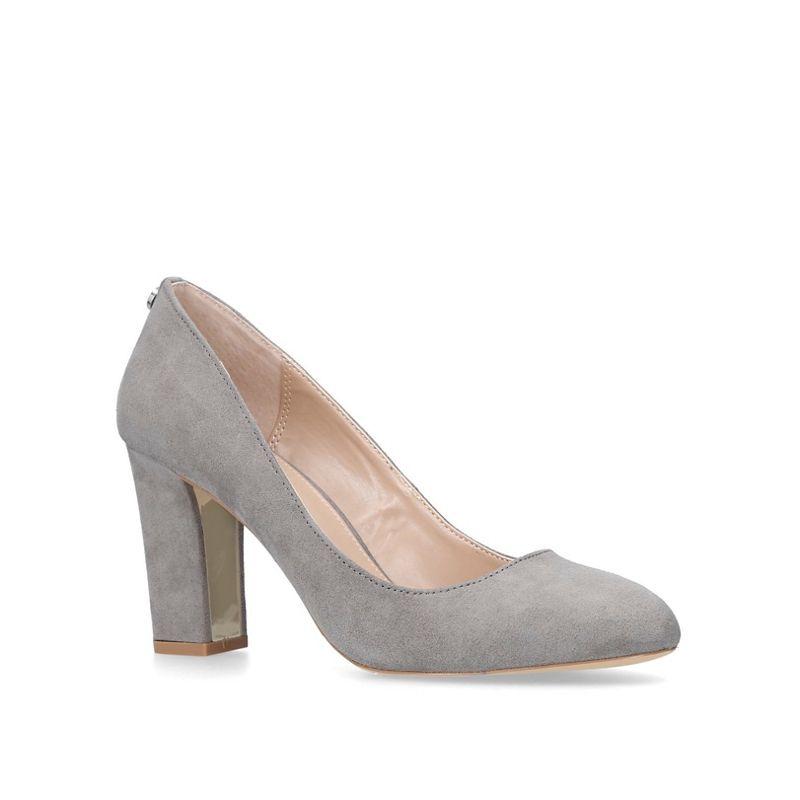 Carvela - Grey Kruise Mid Heel Court Shoes