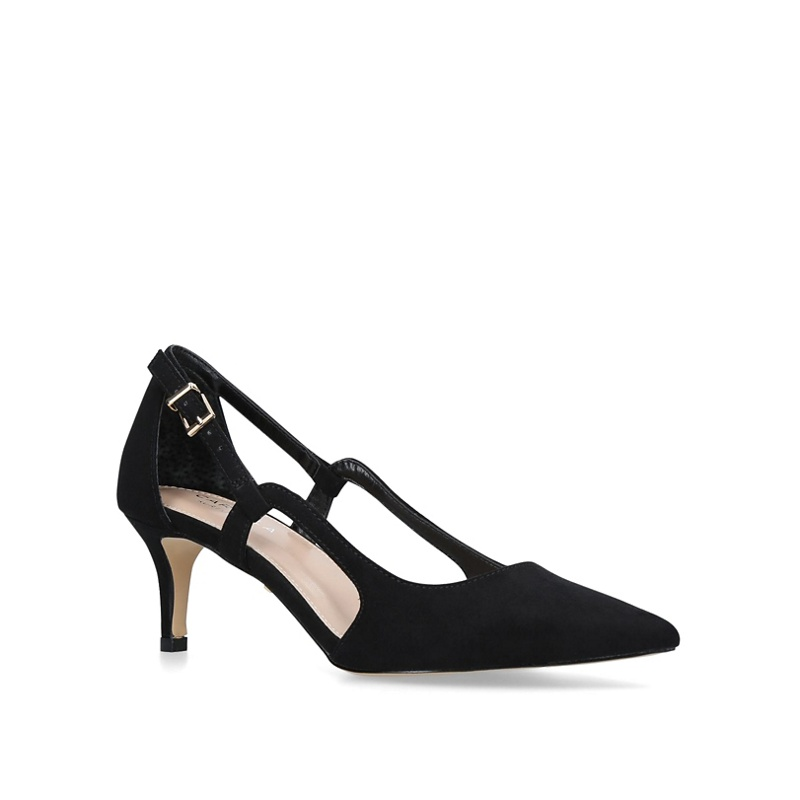 11e6fa65eb5 Carvela - Black  Kitten  Mid Heel Court Shoes