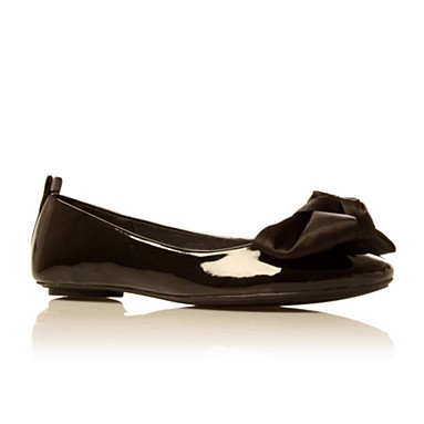 Black licorice flat shoes