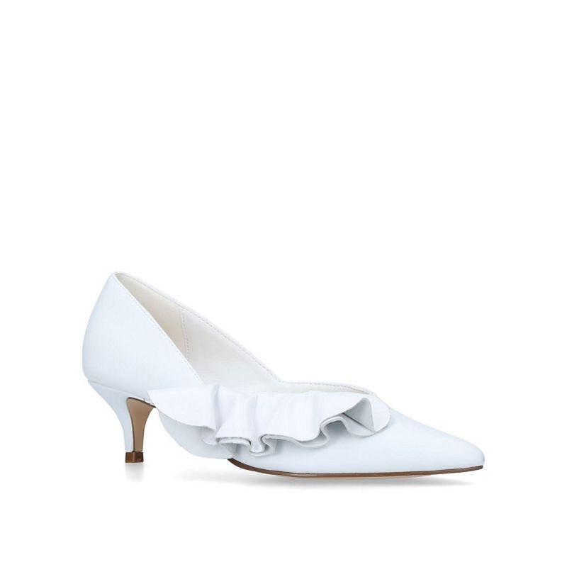 KG Kurt Geiger - White Cara Kitten Heel Court Shoes