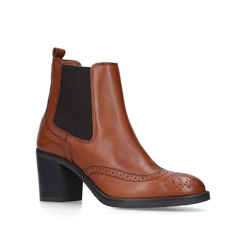 e45f288dc7a1 Carvela Comfort - Tan  Raquel  Mid Heel Chelsea Boots