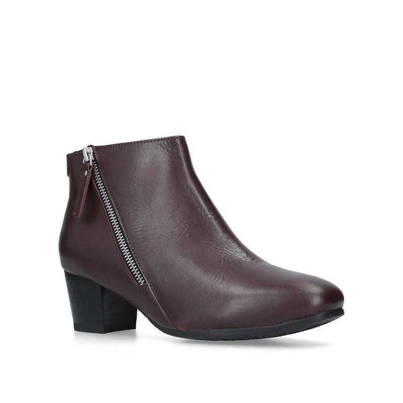 2911b0bab798 Carvela Comfort - Wine  Rachel  Low Heel Ankle Boots