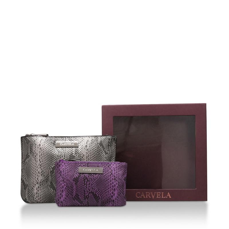 CARVELA   Carvela - Grey 'Pam Gift Set' And Purple Snake Print Gift Set   Goxip