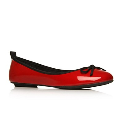 Red Lola flat shoes