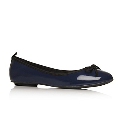 Navy Lola  flat shoes