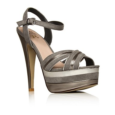Grey Poppy High heel shoes