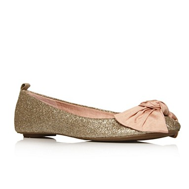 Gold Licorice Flat shoes
