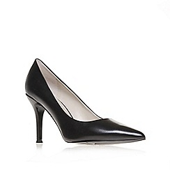 Nine West - Black ' Flax ' mid heel court shoes
