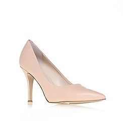 Nine West - Nude ' Flax ' mid heel court shoes