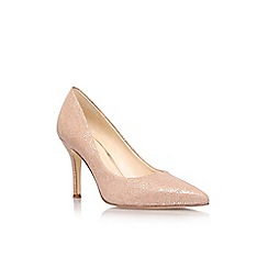 Nine West - Gold 'Flax' high heel court shoe