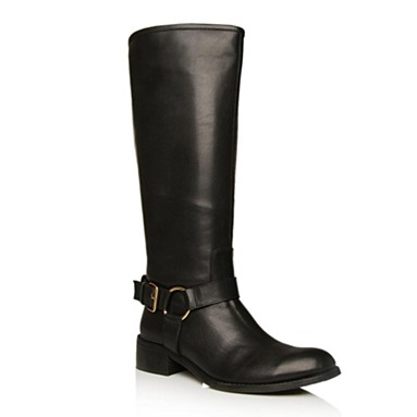 Black Wesley Knee High Boots