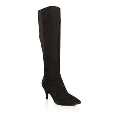 Black Winnie Knee High Boots