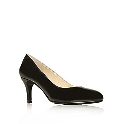 Nine West - Black ' Applaud ' patent court shoe