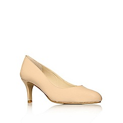 Nine West - Nude ' Applaud ' mid heel courts