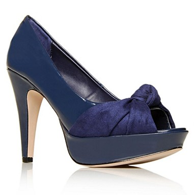 Blue Bardot High heel shoes