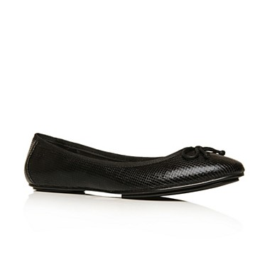Black Leena Flat Shoes