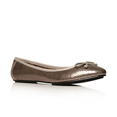 Metallic Leena Flat Shoes