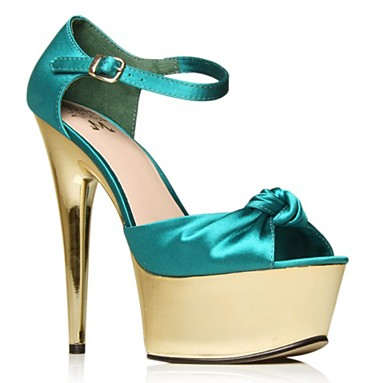 Blue Roxy High heel shoes