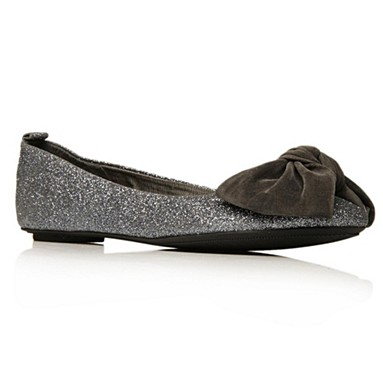 Metallic Licorice Flat shoes