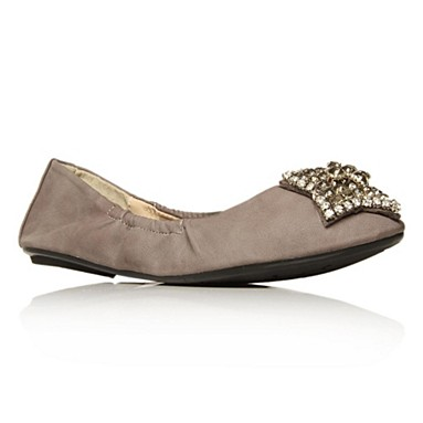 Grey Lucky Flat shoes