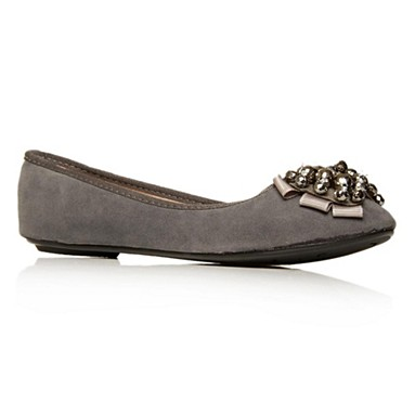 Grey Lolita Flat shoes