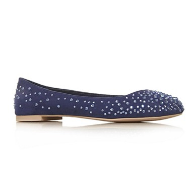 Blue Lindy Flat Shoes